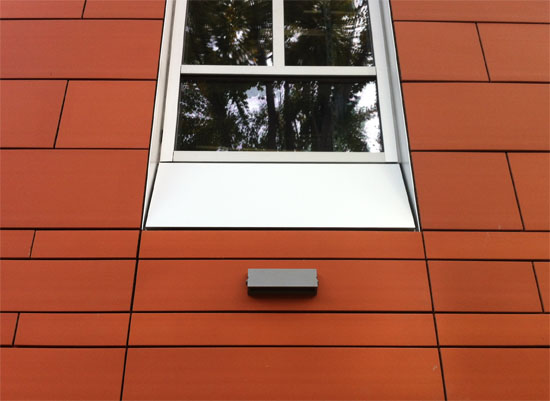 Terracotta Panels at Curtain Wall