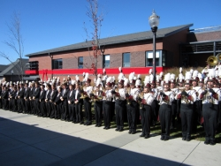 George N. Parks Minuteman Marching Band Building dedication
