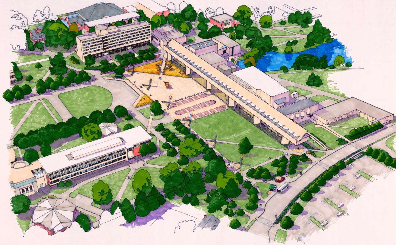Umass Amherst Fine Arts Center Plaza Kuhn Riddle Architects